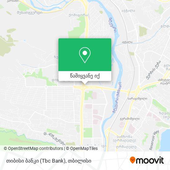 თიბისი ბანკი (Tbc Bank) რუკა