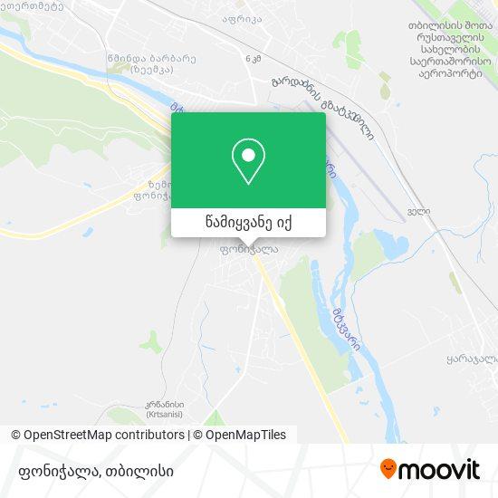 ფონიჭალა (Phonichala) რუკა