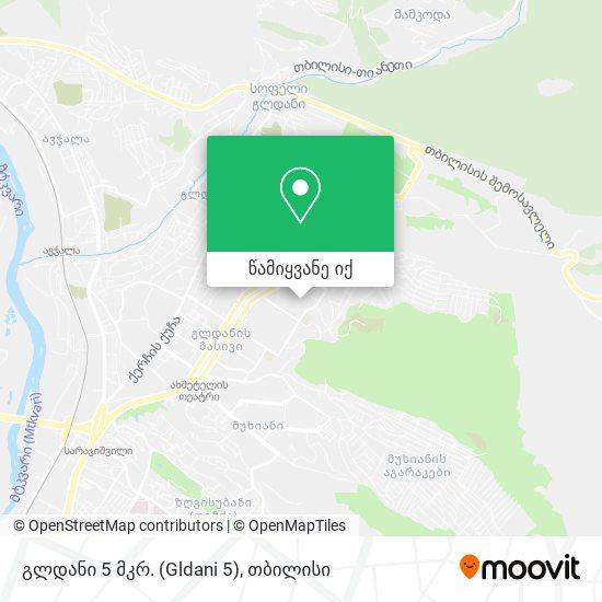 Gldani 5th. District გლდანის V მიკრორაიონი რუკა