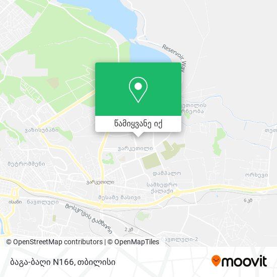 ბაგა-ბაღი N166 რუკა