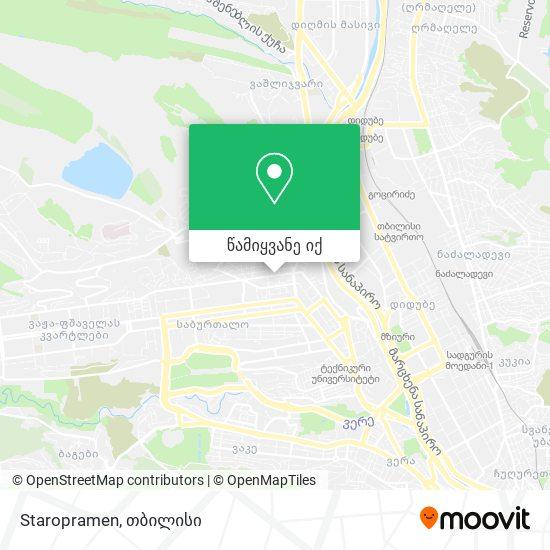 Staropramen რუკა