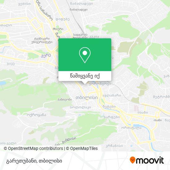 გარეთუბანი რუკა