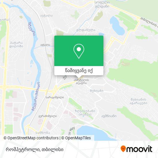 რომპეტროლი (Rompetrol) რუკა
