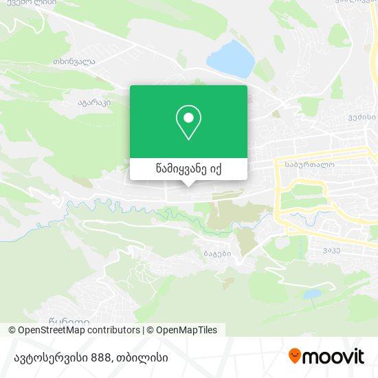 ავტოსერვისი 888 რუკა