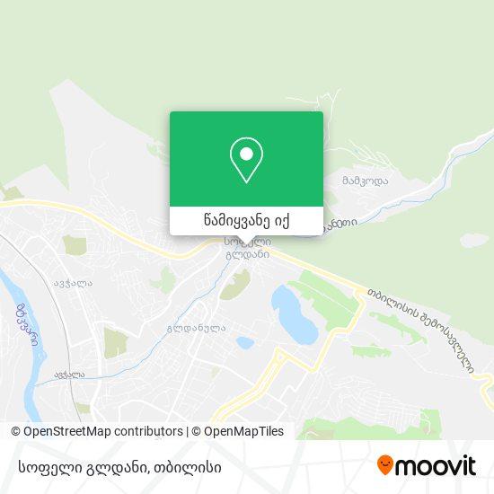 სოფელი გლდანი რუკა