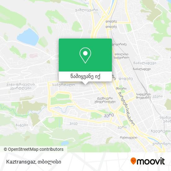 Kaztransgaz რუკა
