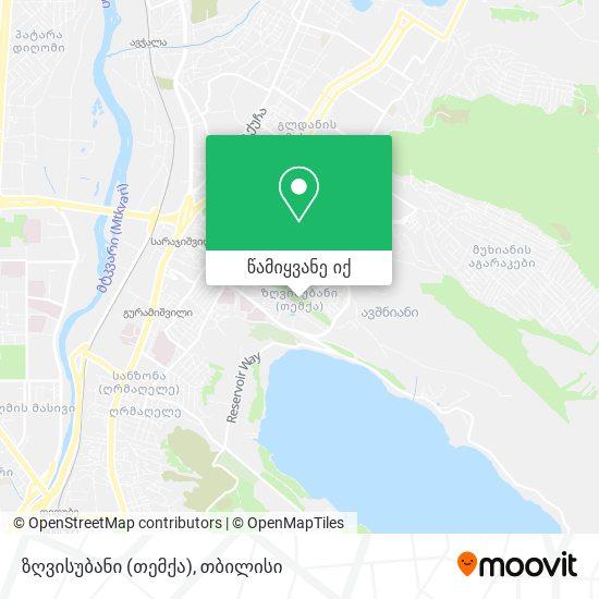 ზღვისუბანი (თმქ) - Zghvisubani (Tmk) რუკა