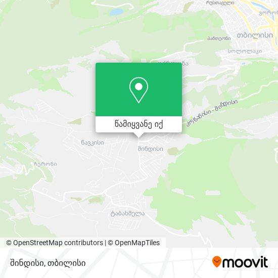 შინდისი (Shindisi) რუკა