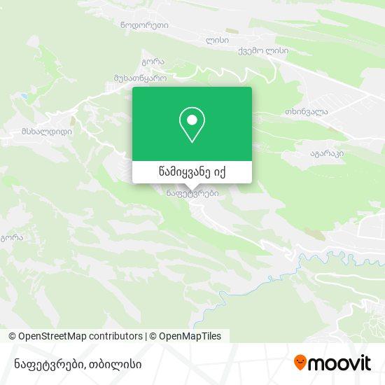 ნაფეტვრები (Napetvrebi) რუკა