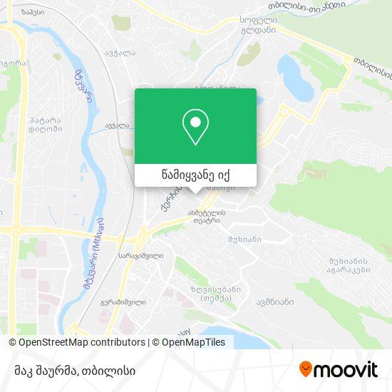 გლდანის შაურმა რუკა