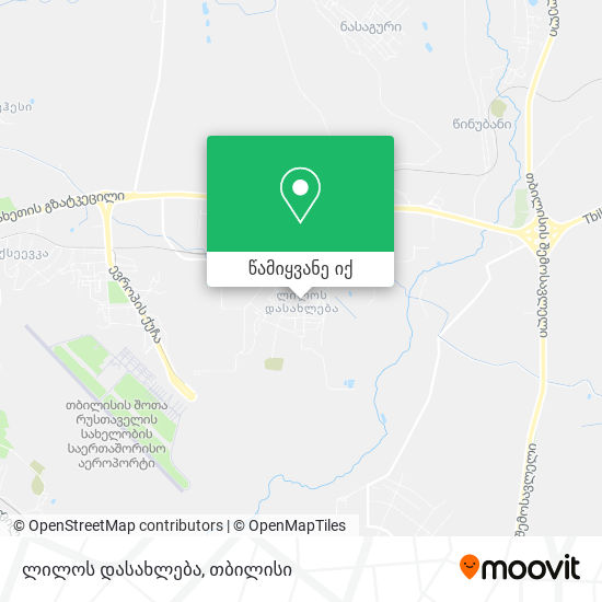 ლილოს დასახლება (Lilo District) რუკა