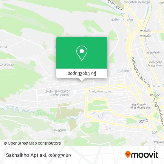 Sakhalkho Aptiaki რუკა