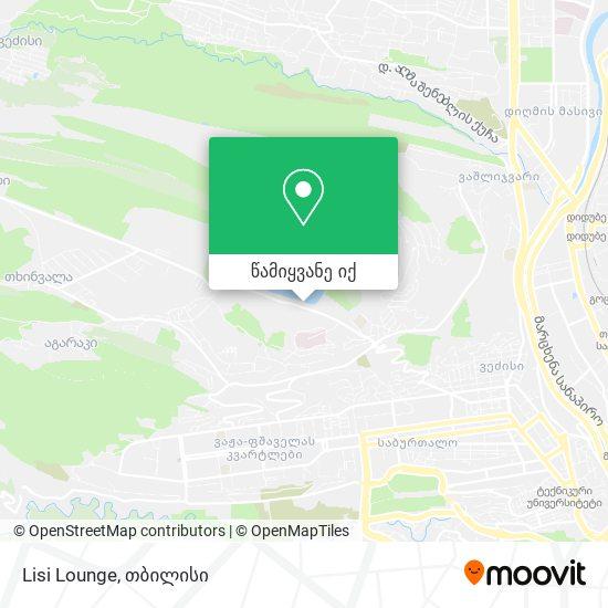 Lisi Lounge რუკა