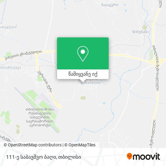 111-ე საბავშვო ბაღი (Kindergarten #111) რუკა
