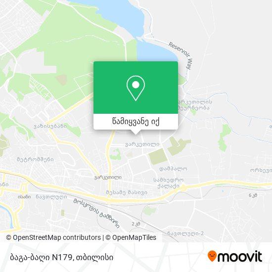 ბაგა-ბაღი N179 რუკა