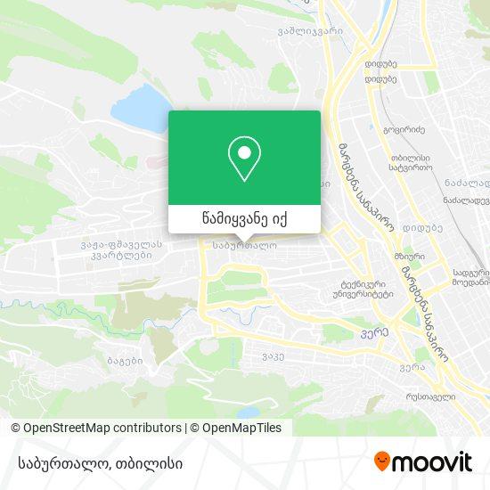საბურთალო (Saburtalo) რუკა