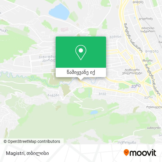 Magistri რუკა