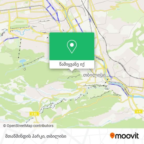 მთაწმინდის პარკი რუკა