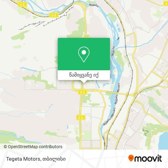 Tegeta Motors რუკა