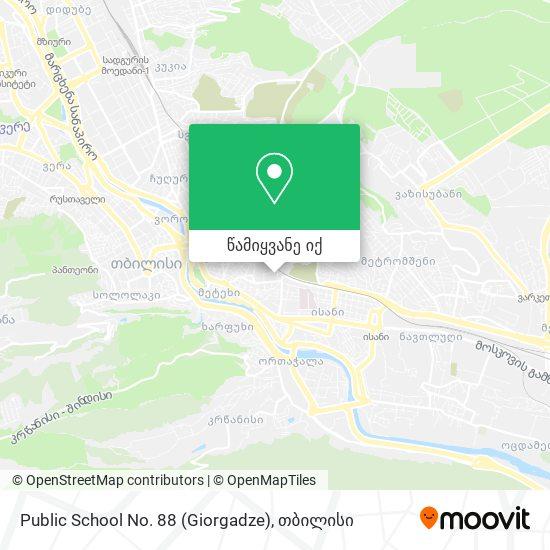 Public School No. 88 (Giorgadze) რუკა