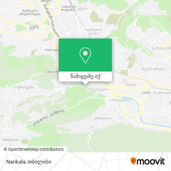 Narikala რუკა