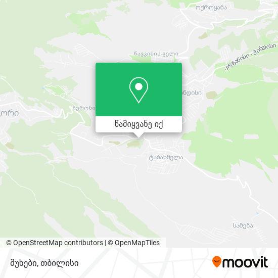მუხები (Mukhebi) რუკა