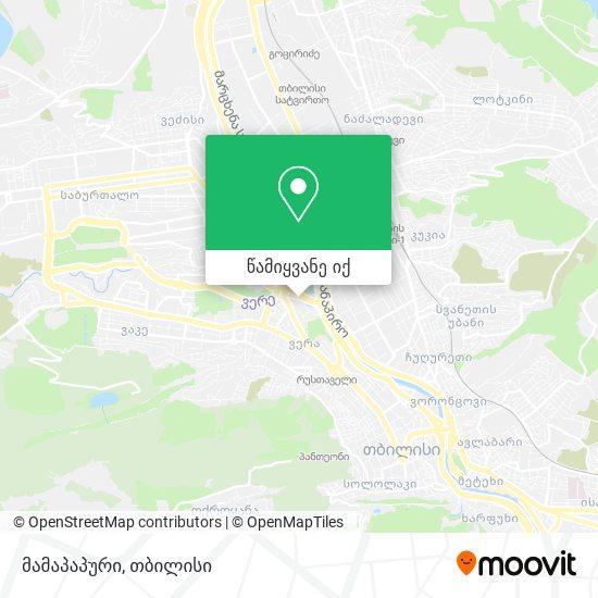 მამაპაპური (Mamapapuri) რუკა