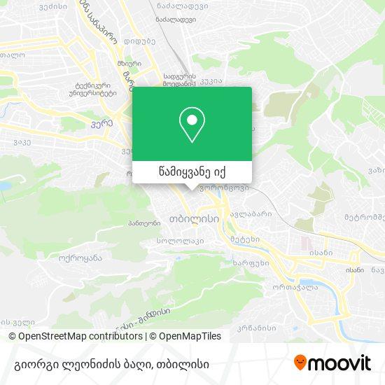 ლეონიძის პარკი რუკა