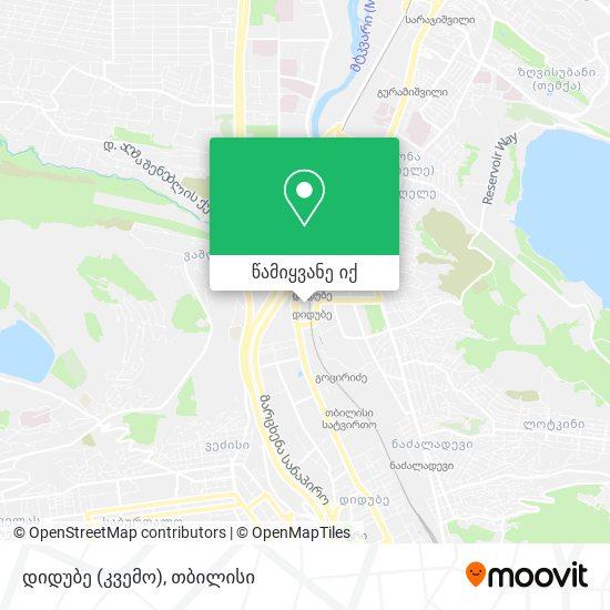 დიდუბე (კვემო) (Didube [Lower]) რუკა