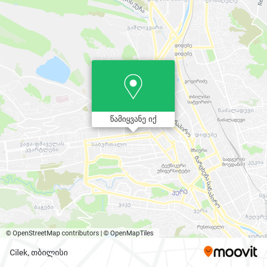 Cilek რუკა