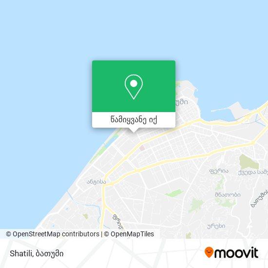 Shatili რუკა