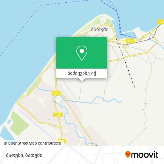 ბათუმი რუკა