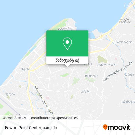 Fawori Paint Center რუკა