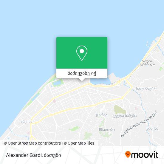 Alexander Gardi რუკა