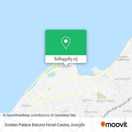 Golden Palace Batumi Hotel-Casino რუკა