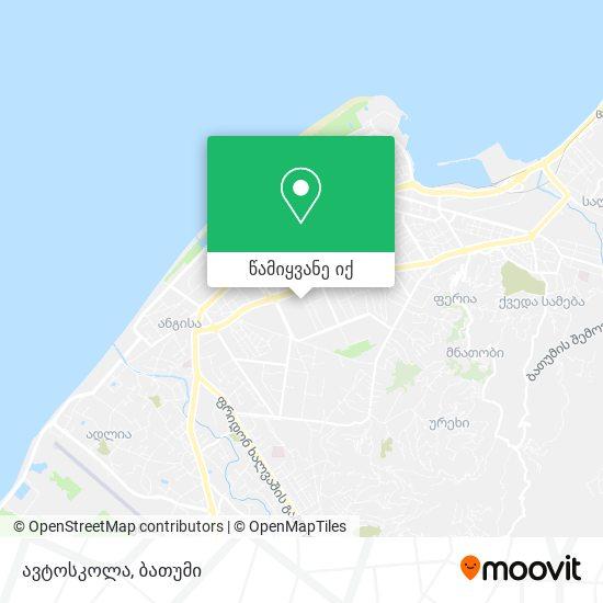 ავტოსკოლა რუკა