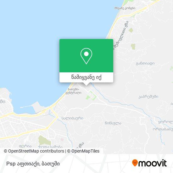 Psp აფთიაქი რუკა