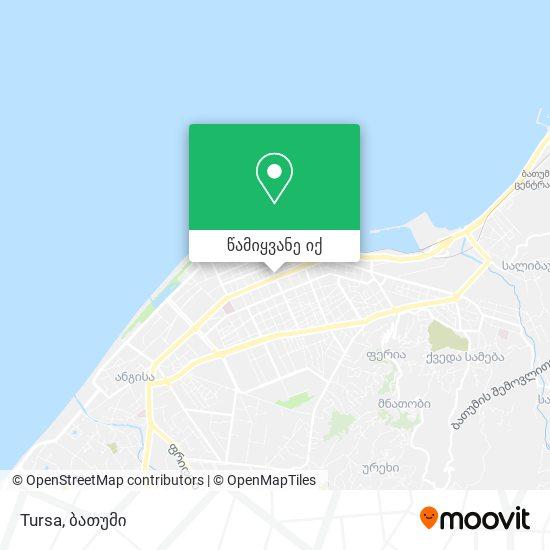 Tursa რუკა
