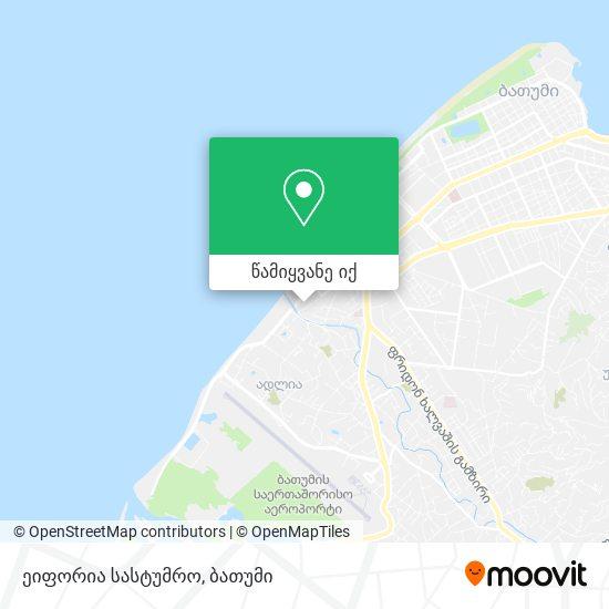 ეიფორია სასტუმრო რუკა