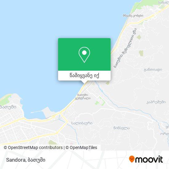 Sandora რუკა