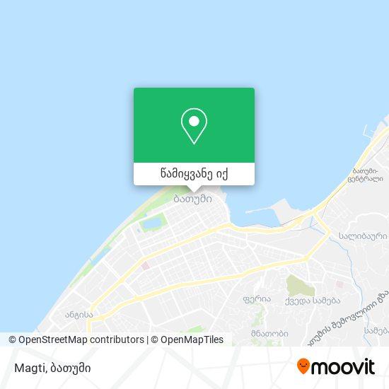 Magti რუკა