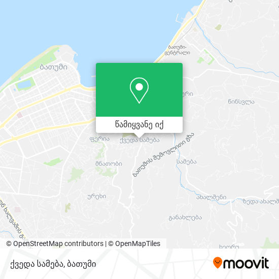 ქვედა სამება რუკა