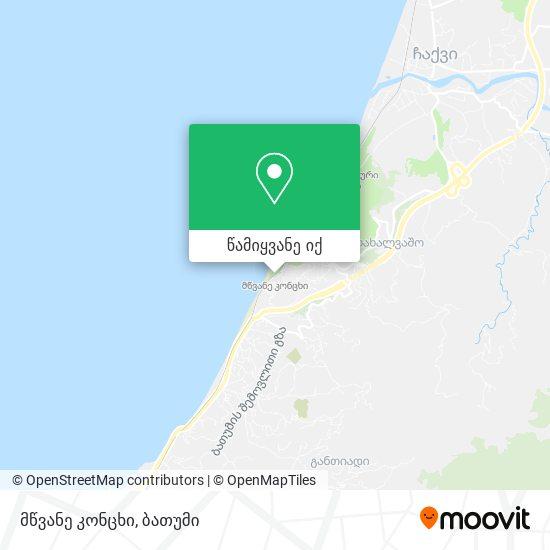 მწვანე კონცხი რუკა