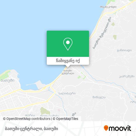 ბათუმი-ცენტრალი რუკა
