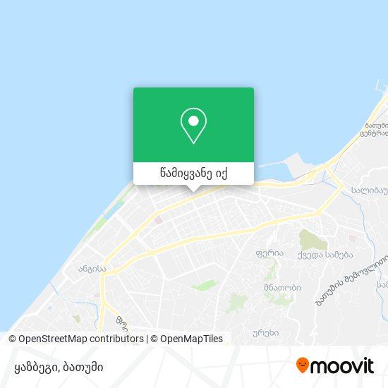 ყაზბეგი რუკა