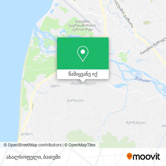 ახალსოფელი რუკა