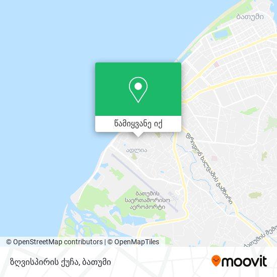 ზღვისპირის ქუჩა რუკა
