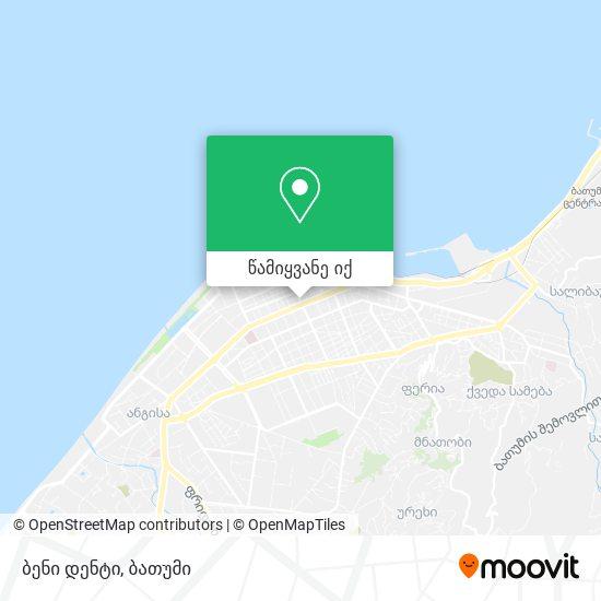 ბენი დენტი რუკა
