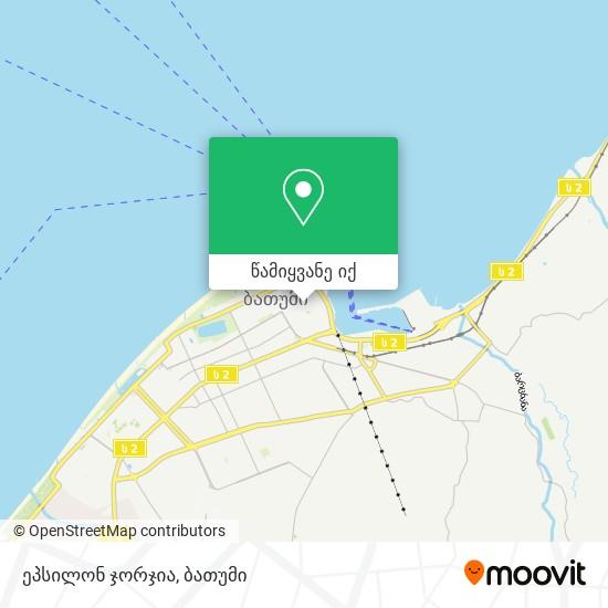 ეპსილონ ჯორჯია რუკა