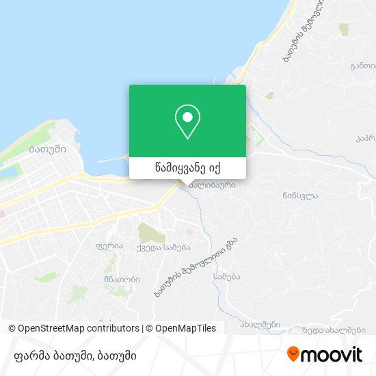 ფარმა ბათუმი რუკა